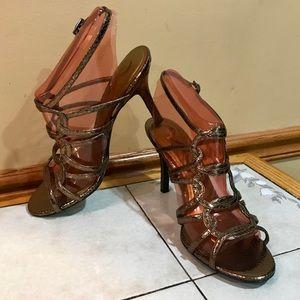 Nina Copper Colored Heels - Size: 8